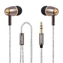 Sephia SP1020 Earphones Headphones Noise Isolating with Bass Driven Stereo Sound - Gold