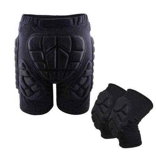 Protective Hip Pad Padded Shorts+ Knee Pads Skiing Skating Snowboarding Impact Protection