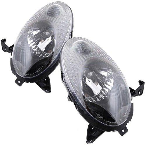 Nissan Micra Mk3 2003-2007 Headlights Headlamps 1 Pair O/s & N/s
