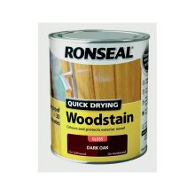 Quick Drying Woodstain Gloss 750ml, Dark Oak, By Ronseal