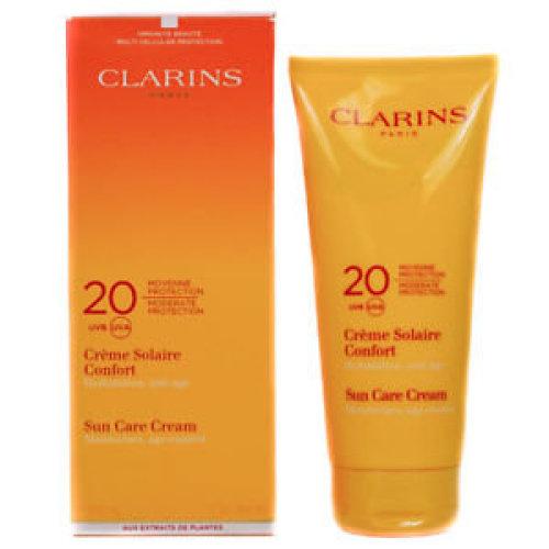 CLARINS Sun Care Cream Moisturizes, Moderate Protection 20 (UVB / UVA)