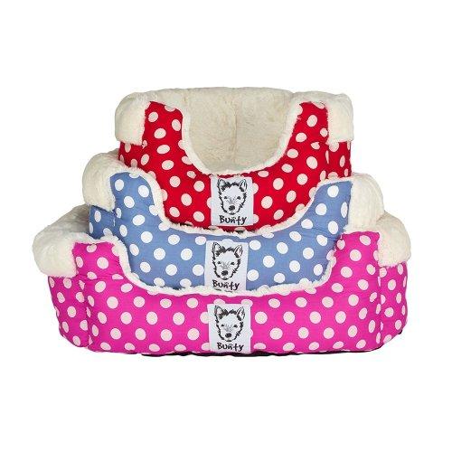 Bunty Deep Dream Polka Dot Bed | Soft Fleece Dog Bed