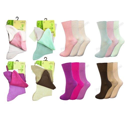 4-7 Multipack Ladies Women Black Luxury Bamboo Super Soft Anti Bacterial Socks