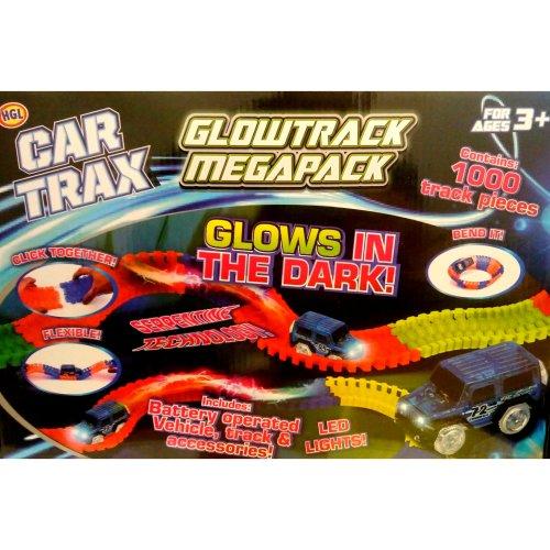 HGL Car Trax Glowtrack Megapack 1000 PCE Track Set