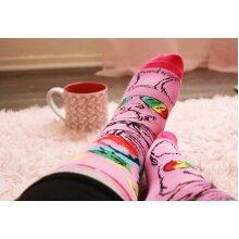 Pink Reflective Rainbow Dog Sock