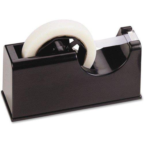 OIC OIC96699 2-in-1 Heavy Duty Tape Dispenser, Rubber Base & Plastic - Black