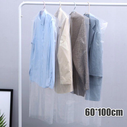 """SET OF 50 Clear Polythene Garment Covers Clothes Suit Dress Dry Cleaner Bags 40"""""""