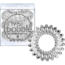 Invisibobble ORIGINAL Hair Ties, Crystal Clear, 3 Pack - Traceless, Strong Hold, Waterproof - Suitable for