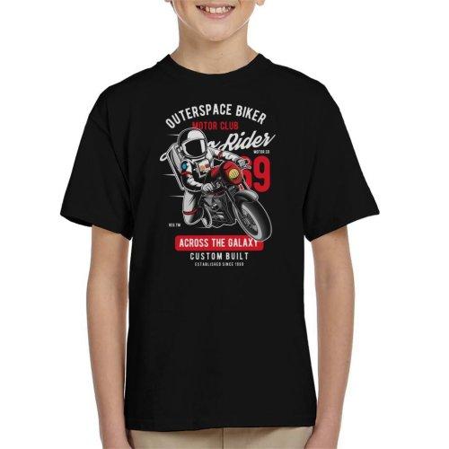 Outer Space Biker Motor Club Kid's T-Shirt
