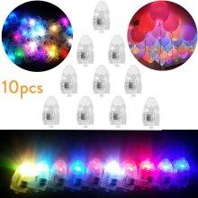 10Pcs Mini LED Light Bulbs Balloon Bullet DIY