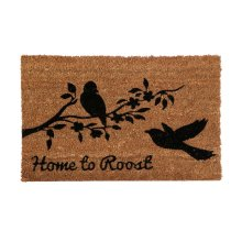 Home To Roost Doormat, Pvc Backed Coir