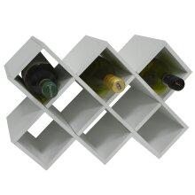 CROSS - 10 Bottle Free Standing Wine Storage Rack - White