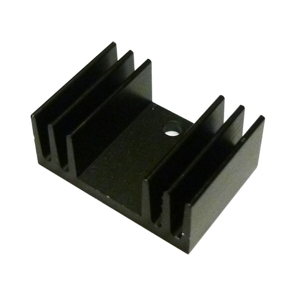 28*25*5mm Anodized Aluminium Heatsink For Power Transistor//TO-126//TO-220//IC TO-3