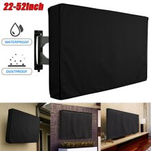 Outdoor Dustproof Waterproof TV Cover Black Television Protector