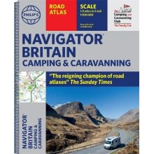 Philip's Navigator Camping and Caravanning Atlas of Britain Spiral binding Philip's Road Atlases