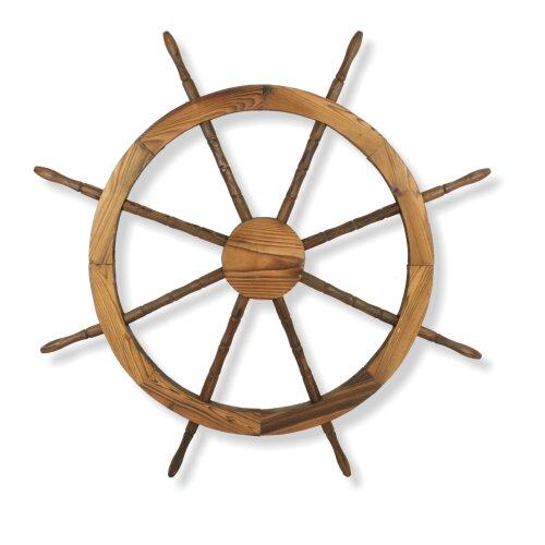 Wooden Ship Wheel Ornamental Vintage Bunwood Decoration