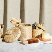 Seagrass Baskets With Lid - Set Of 2