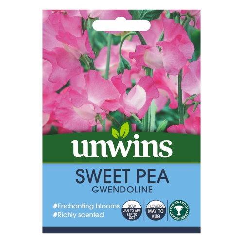 Unwins Pictorial Packet - Sweet Pea Gwendoline - 21 Seeds
