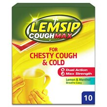 Lemsip Cough Max for Chesty Cough and Cold Powder for Oral Solution, 10 each