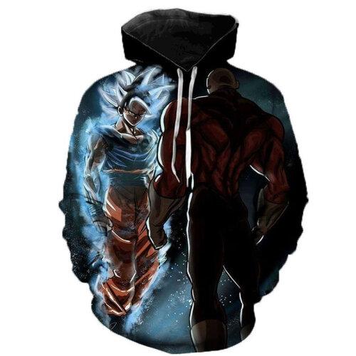 (S) 3D Printed Hooded Pullover Sweatshirt Jacket