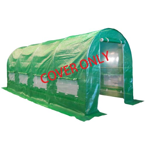 (5X2X2M) BIRCHTREE Replacement Polytunnel Greenhouse - Pollytunnel Poly Tunnel Cover Only