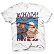 Officially Licensed WHAM - Last Christmas Mens T-Shirt Big & Tall Mens T-Shirt (White)