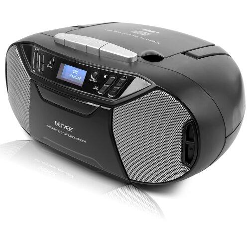 Denver TDC-250 Portable Digital DAB/DAB+/FM Radio With CD & Cassette Player