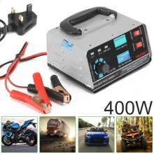 400W 12V/24V Automatic Car Battery Charger Smart Pulse Repair Trickle