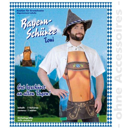 Oktoberfest Bavarian costume Men Apron Toni Male costume Size UNI