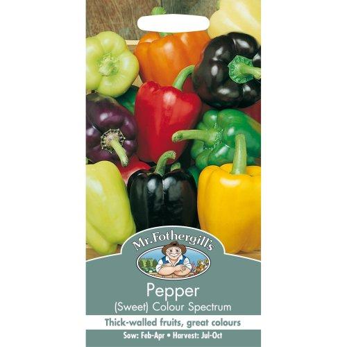 Mr Fothergills - Pictorial Packet - Vegetable - Pepper Sweet Colour Spectrum - 50 Seeds
