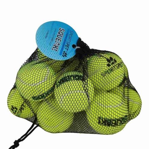 Sportspet Dog Squeak Tennis Balls (Pack Of 12)