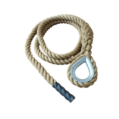 32mm Natural Gym Rope with Hard Eye