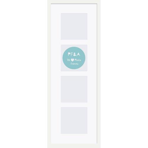 "23x8""/4 4x4"" Multi Oxford White Photo Frame with Soft Cream Mount"