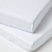Cot Fitted Sheets Pack Egyptian Cotton with Fully Elasticated Skirt 330 Thread Count