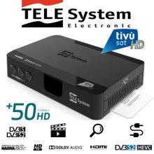 TivùSat Telesystem TS9018HEVC HD Decoder + PRE-ACTIVATED Tivusat HD SmartCard