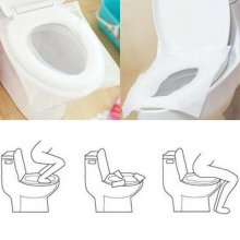 Disposable Toilet Seat Cover Travel Flushable Hygienic Paper Seat Cover