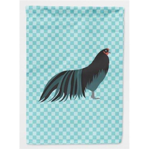 Sumatra Chicken Blue Check Flag Garden Size