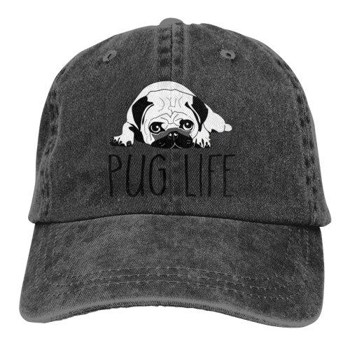 Pug Life Denim Baseball Caps