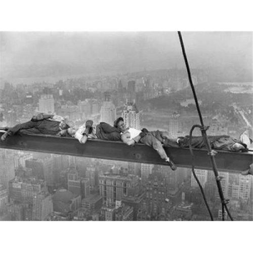 Construction Workers Resting On Steel Beam Above Manhattan 1932 Poster Print by Anonymous, 22 x 28 - Large