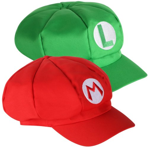 Trixes 2pc Mario & Luigi Hats | Video Game Theme Caps