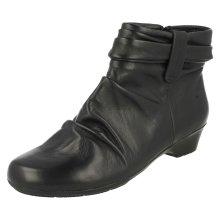Ladies K By Clarks Ankle Boots Matron Ella - E Fit
