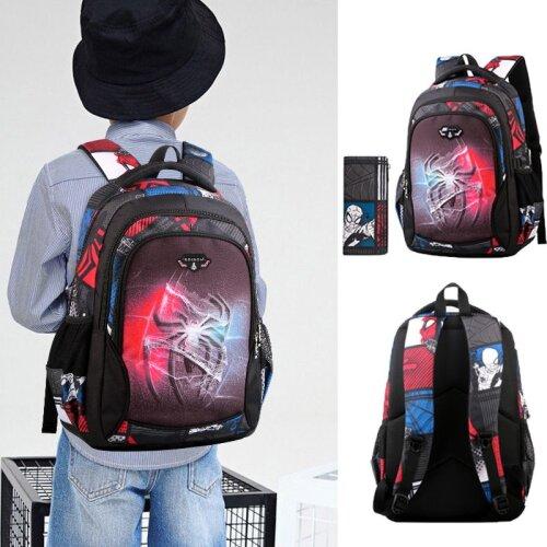 Spiderman Boys Schoolbag Backpack With Pencil Bag