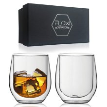 Double Walled Whiskey Glasses Gift Set