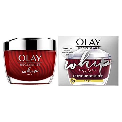 Olay Regenerist Whip Light as Air Anti-Ageing Moisturiser for Firmer Skin with SPF30, Hyaluronic Acid, 50 ml