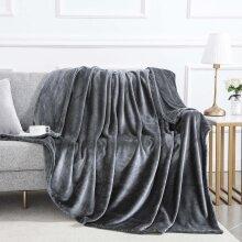 Grey-Heavy Weighted Luxury Mink Blanket UK Size