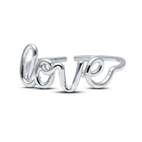 Love Toe Ring For Women's Gift White Gold Plated Solid 925 Silver