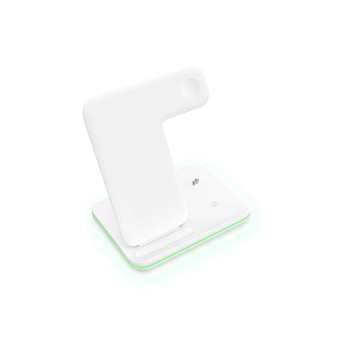 Wireless Charger,3 in 1 Wireless Charging Station for Apple Watch/Airpods -White