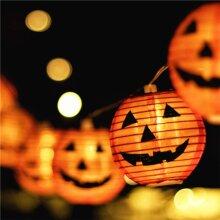Halloween String Lights | 10 Led Pumpkin Lanterns