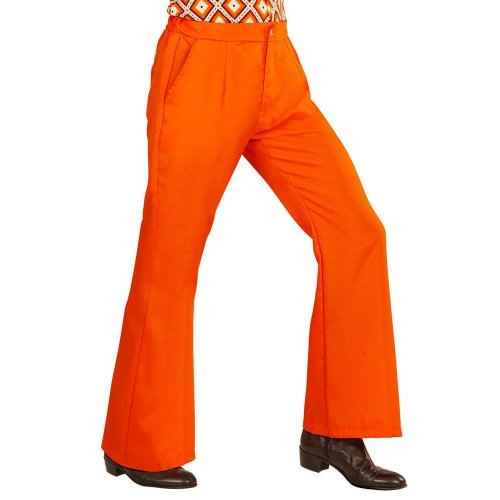 Mens 70/'s Retro Guy Disco Flared Trousers 1970s Hippy M-XL