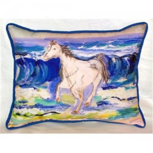 Horse & Surf Indoor & Outdoor Throw Pillow, 16 x 20 in.